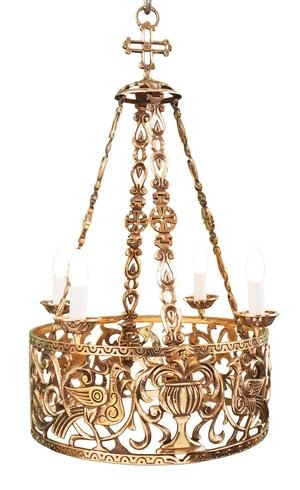 One-layer church chandelier (horos) - Lukhov (4 lights)
