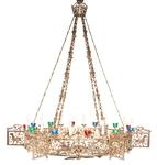 One-layer church chandelier (horos) - Ouglich (24 lights)