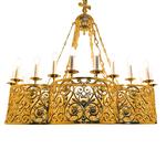 One-layer church chandelier (horos) - Oustyug (24 lights)