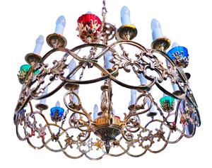 One-layer church chandelier (horos) - Azov (24 lights)