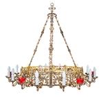 One-layer church chandelier (horos) - Souzdal (18 lights)