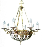 One-layer church chandelier (horos) - Gorokhovets (8 lights)