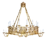 One-layer church chandelier (horos) - Rzhev (24 lights)