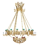 One-layer church chandelier (horos) - Tobolsk (24 lights)
