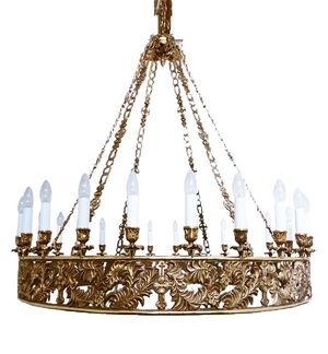 One-layer church chandelier (horos) - Tver (24 lights)