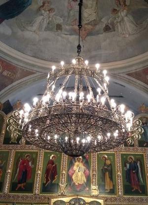 Church chandelier (horos) - Pokrov (64 lights)