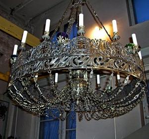 One-layer church chandelier (horos) - Pereslavl (20 lights)