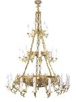 Three-layer church chandelier - 8 (33 lights)