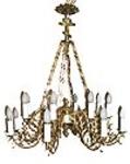 One-level church chandelier - 15 (16 lights)