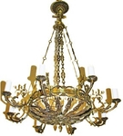 One-level church chandelier - 9 (8 lights)