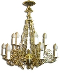 One-level church chandelier - 11