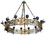 One-layer church chandelier (horos) - Pechory (20 candles)