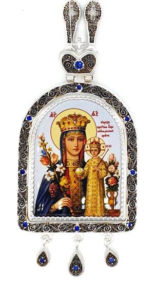 Bishop panagia Theotokos the Unfading Flower - A1045c