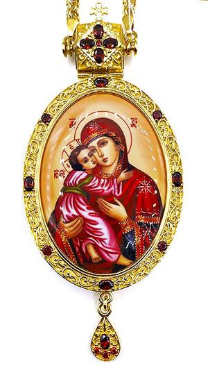 Bishop panagia Theotokos of Vladimir - A1283