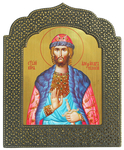 Icon: Holy Right-Believing Great Prince Alexander of Neva