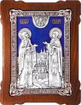 Icon - Holy Venerable Princes Peter and Thebroniya - A120-3