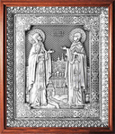 Icon - Holy Venerable Princes Peter and Thebroniya - A122-1