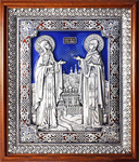Icon - Holy Venerable Princes Peter and Thebroniya - A122-3