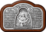 Icon for car: Protection of the Most Holy Theotokos (silver-gilding)