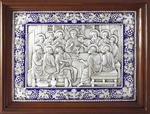 Icon: The Last Supper (enamel)