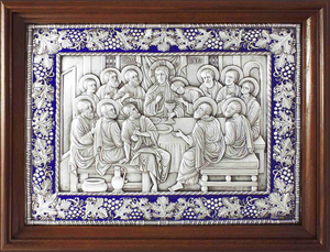 Icon: The Last Supper (enamel)