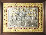 Icon: The Last Supper (gold-gilding)