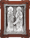 Icon - Holy Venerable Cyril and Methodius Equal-to-the-Apostles - A141-1