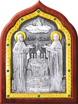 Icon - Holy Venerable Princes Peter and Thebroniya - A67-6