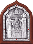 Icon - Holy Venerable Cyril and Mary - A81-2