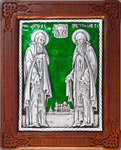 Icon - Holy Venerable Herman and Sergius of Balaam - A96-3