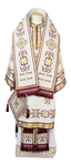 Bishop vestments - brocade 12654 (white-gold)