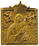 Metal icon: Theotokos of the Passions