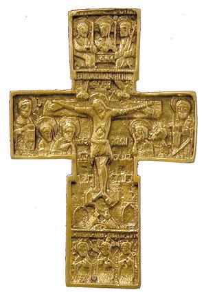 Metal icon: Crucifixion