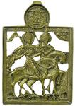 Metal icon: Holy Passion-Bearers Boris and Gleb - 2