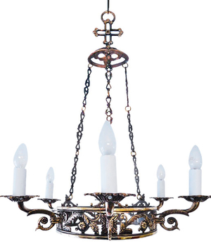 One-layer Church chandelier (horos) - Peresvet (6 lights)