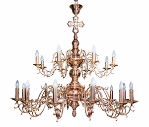 Two-level church chandelier - 1D (20 lights)
