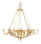Two-layer church chandelier - 8 (8 lights)
