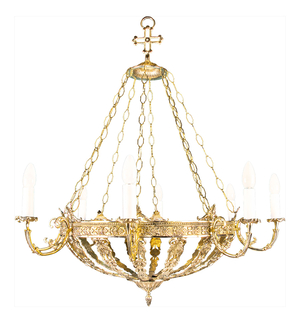 One-layer church chandelier - 8 (8 lights)
