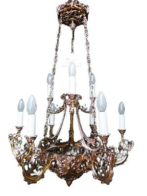 One-level church chandelier - 9003 (9 lights)