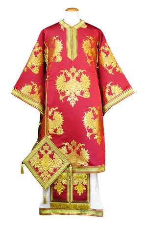 Bishop vestments - Eagle (deep red)