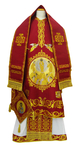 Bishop vestments - Transfiguration (claret)