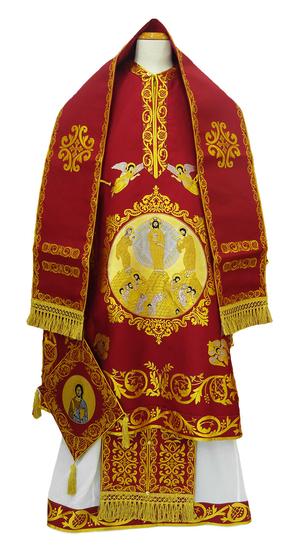 Bishop vestments - Transfiguration (claret)