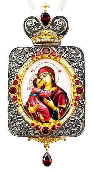 Bishop panagia - A1381 Theotokos of Vladimir