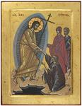 Icon: Descending to the Hades (9.4''x12.2'' (24x31 cm))