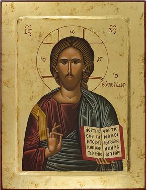 Icon: Christ the Pantocrator - 30 (9.4''x12.2'' (24x31 cm))