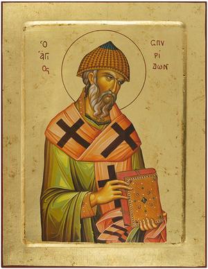 Icon: Holy Hierarch Spyridon of Tremethius - PS2 (10.6''x12.2'' (27x31 cm))