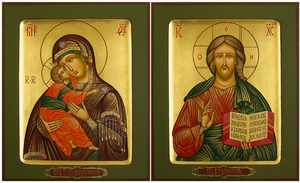 Wedding icon pair - H3