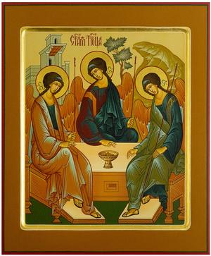 Icon: Holy Trinity - PS1 (8.3''x9.8'' (21x25 cm))