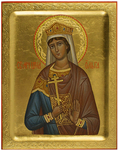 Icon: Holy Martyr Great Princess Olga - PS1 (5.1''x6.3'' (13x16 cm))