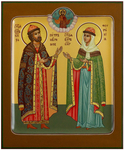 Icon: Holy Blessed Prince Peter and Princess Thebroniya - PS3 (5.1''x6.3'' (13x16 cm))